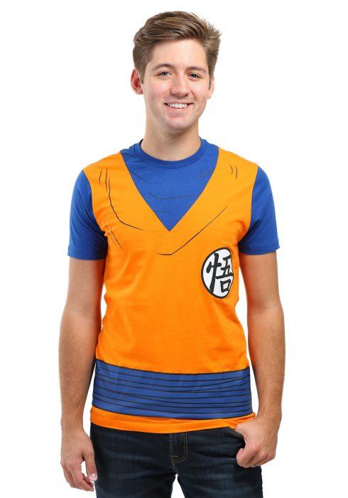 Mens Dragonball Z Goku Costume T-Shirt