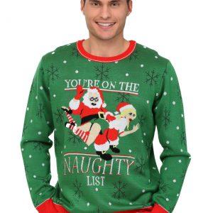 Men's Naughty List Christmas Sweater