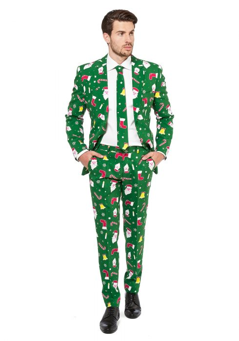 Men's OppoSuits Santaboss Suit