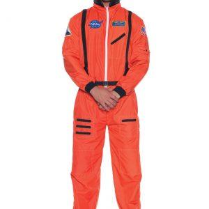 Men's Orange Astronaut Costume