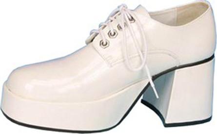 Men's Platform Shoes - White