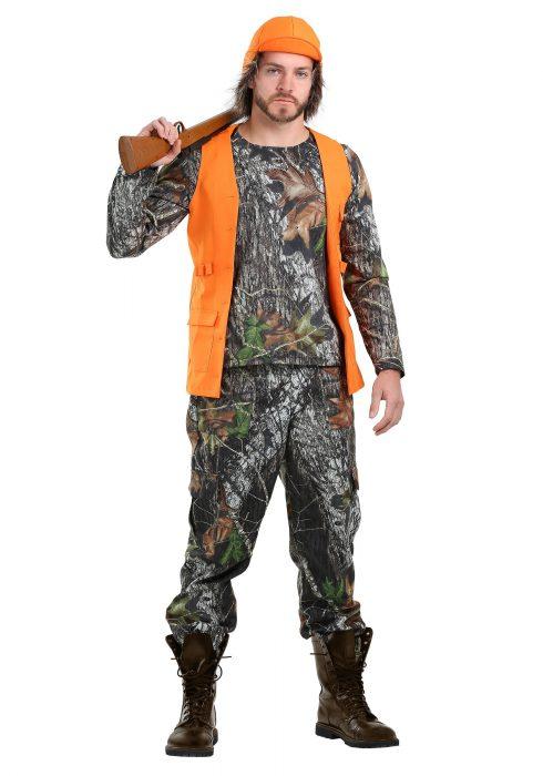 Men's Plus Size Camo Hunter Costume