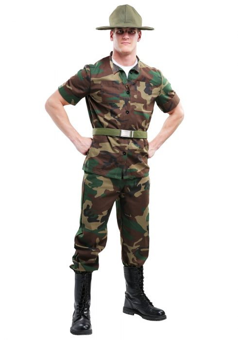 Men's Plus Size Drill Sergeant Costume