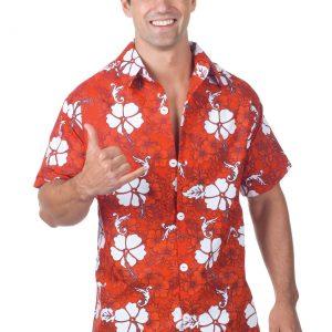 Men's Plus Size Red Hawaiian Shirt
