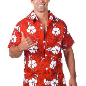 Men's Red Hawaiian Shirt
