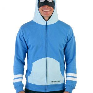 Mens Regular Show Mordecai Costume Hoodie