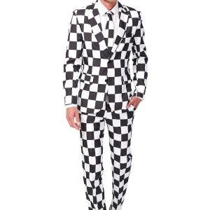 Men's SuitMeister Basic Checkered Black and White Suit