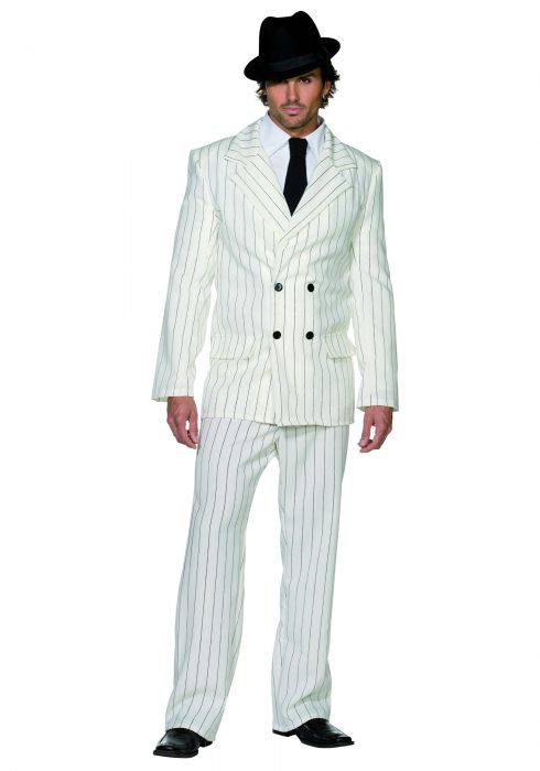 Men's White Gangster Costume