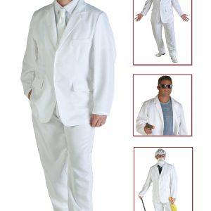 Men's White Suit Costume