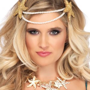 Mermaid Pearl Starfish Headband