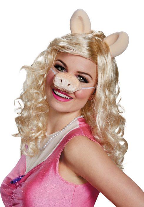 Miss Piggy Adult Wig