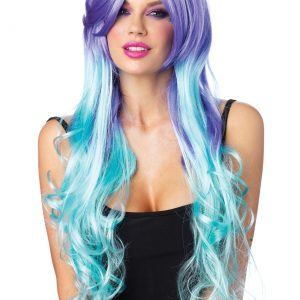 Moonlight Long Curly Wig With Optional Pony Tail Clips