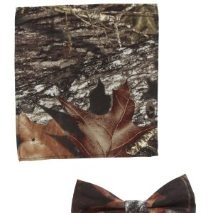 Mossy Oak Bow Tie and Pocket Square