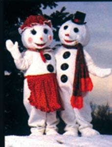 Mr. Snowman Mascot Costume