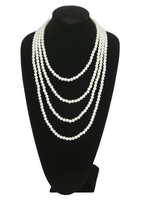Multi Strand Pearl Flapper Necklace