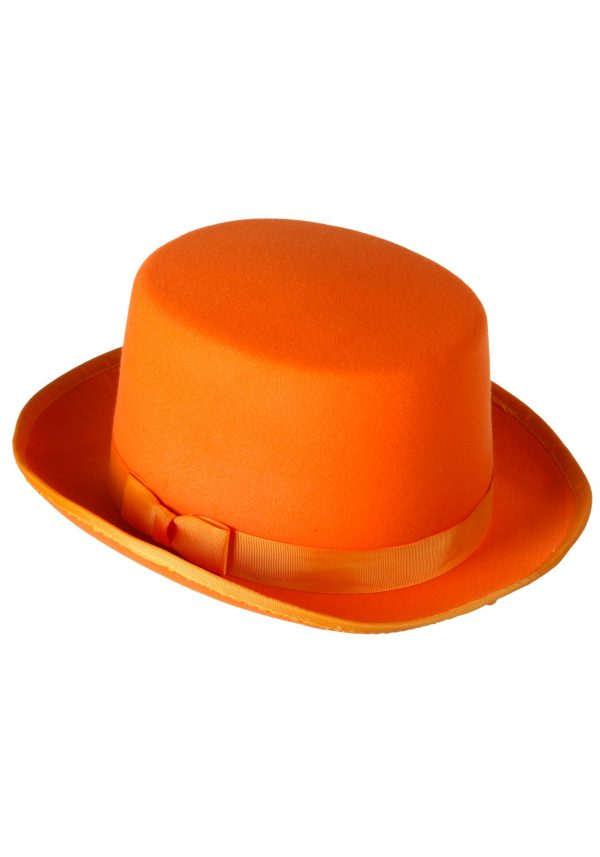 Orange Tuxedo Top Hat