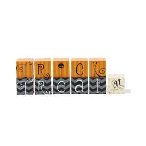 Orange and Black Trick or Treat Blocks