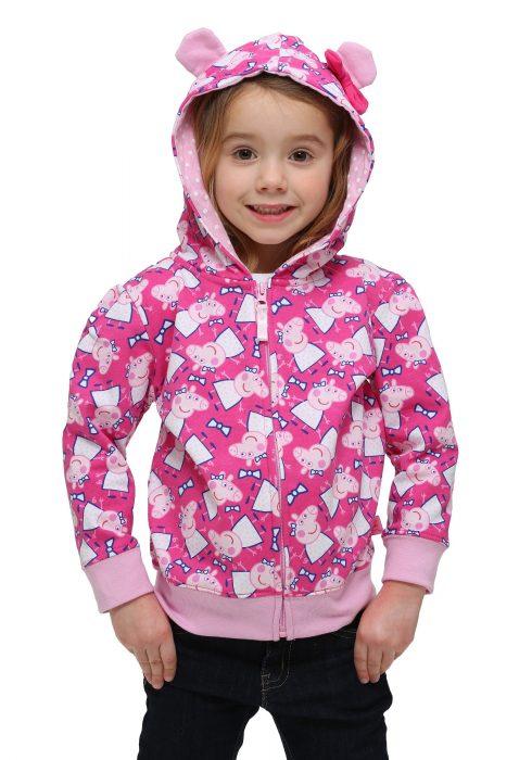 Peppa Pig Kids Hooded Sweatshirt with 3D Ears