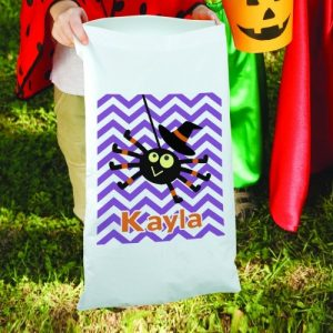 Personalized Chevron Trick or Treat Sack Bag