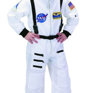 Personalized Child Astronaut Costume (White)