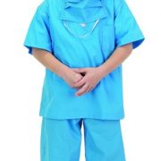 Personalized Child Doctor Scrubs Costume (Blue)