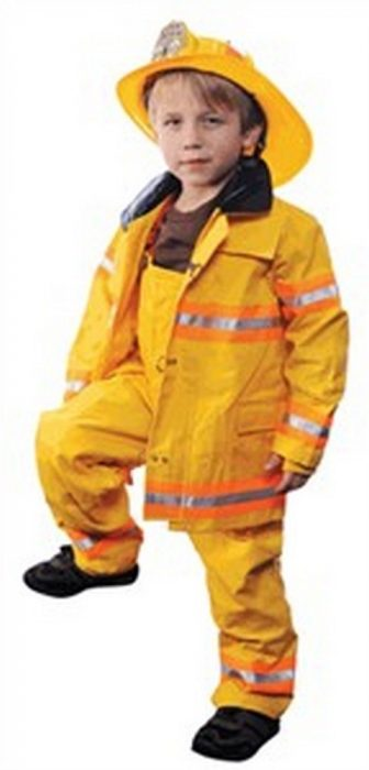 Personalized Child Fire Fighter Costume - Yellow