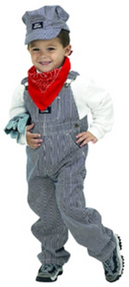 Personalized Child Train Engineer Costume
