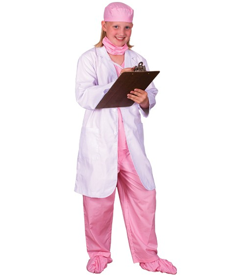 Personalized Kids Doctor Costume - Pink