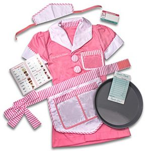 Personalized Waitress Costume Set