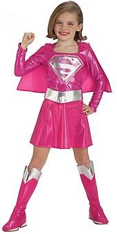 Pink Child Supergirl Costume