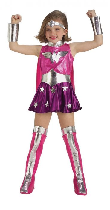 Pink Child Wonder Woman Costume