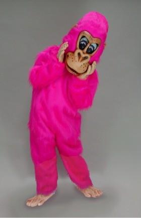 Pink Gorilla Mascot Costume