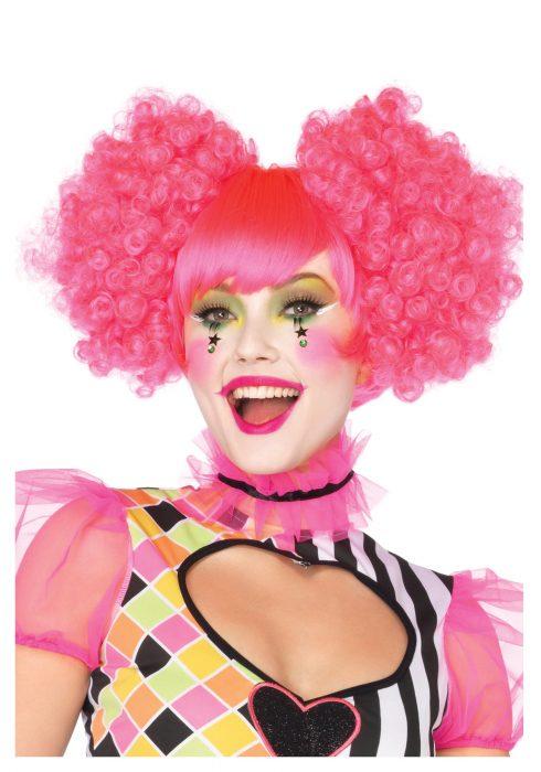 Pink Harlequin Wig