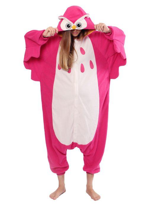 Pink Owl Pajama Costume