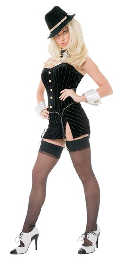 Playboy Gangsta Lady Mobster Costume