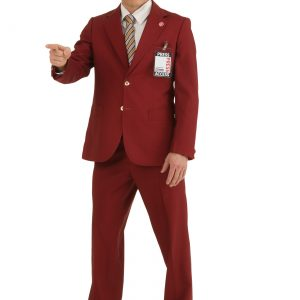 Plus Size Authentic Ron Burgundy Suit