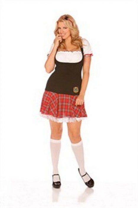 Plus Size Frisky Freshmen Sexy Schoolgirl Costume
