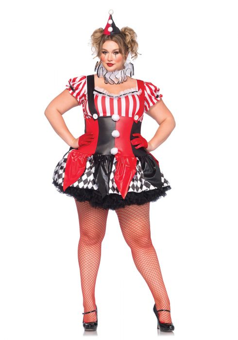Plus Size Harlequin Clown Costume