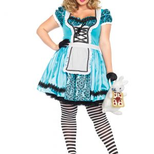 Plus Size Looking Glass Alice Costume