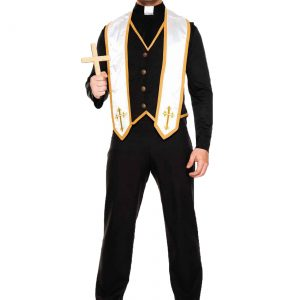 Plus Size Men's Bad Habit Priest Costume