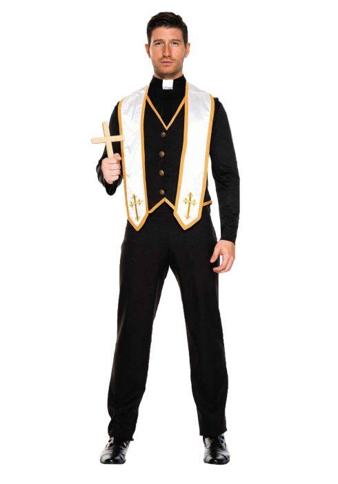 Plus Size Men's Bad Habit Priest Costume
