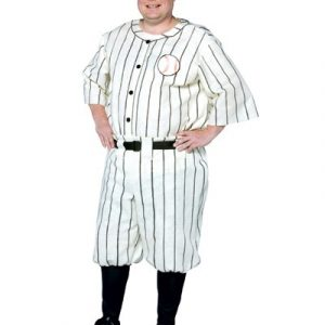 Plus Size Old Tyme Baseball Player Costume