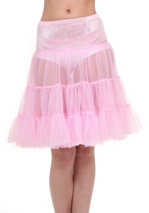 Plus Size Pink Knee Length Crinoline