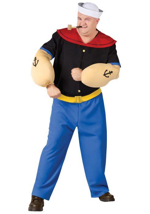 Plus Size Popeye Costume