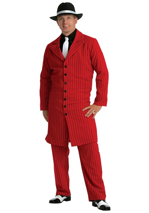 Plus Size Red Gangster Zoot Suit