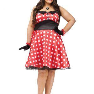 Plus Size Retro Miss Mouse Costume