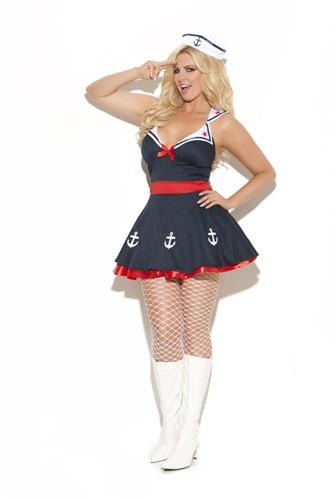 Plus Size Sailor Costume - Sailor's Delight