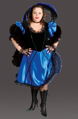 Plus Size Saloon Girl Costume