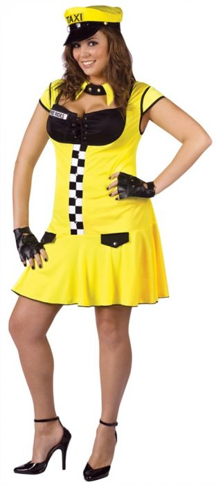 Plus Size Sexy Cabbie Costume