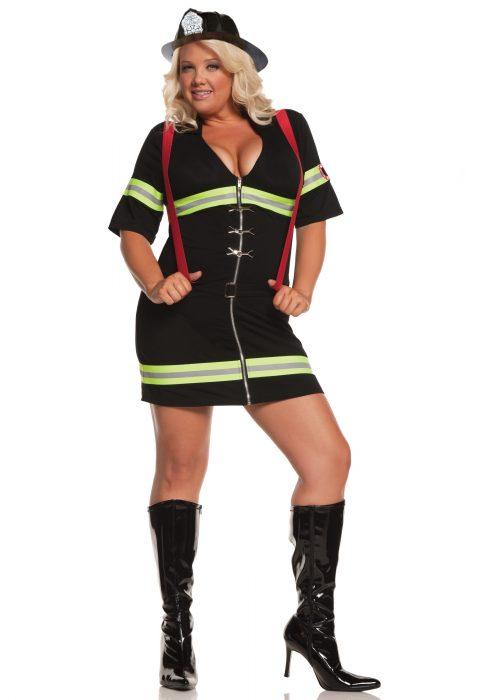 Plus Size Sexy Firegirl Costume